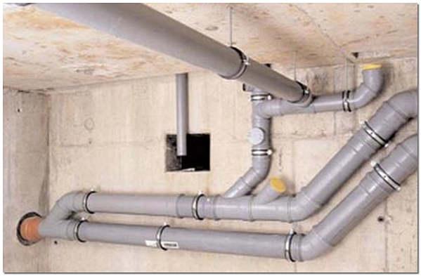 Разводка труб канализации