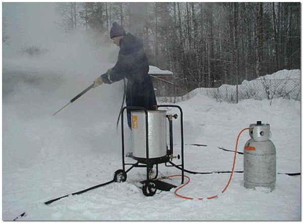 STEAM MATE - самый компактный парогенератор работающий на сжиженном газе