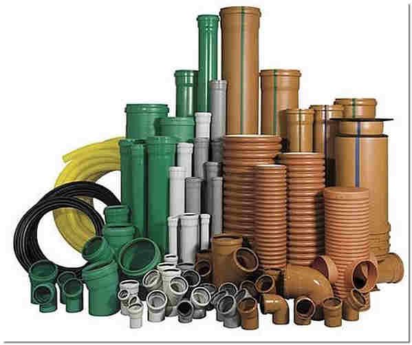 ПВХ канализационные трубы и фитинги