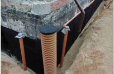 Пристенный дренаж фундамента дома: устройство и используемые материалы