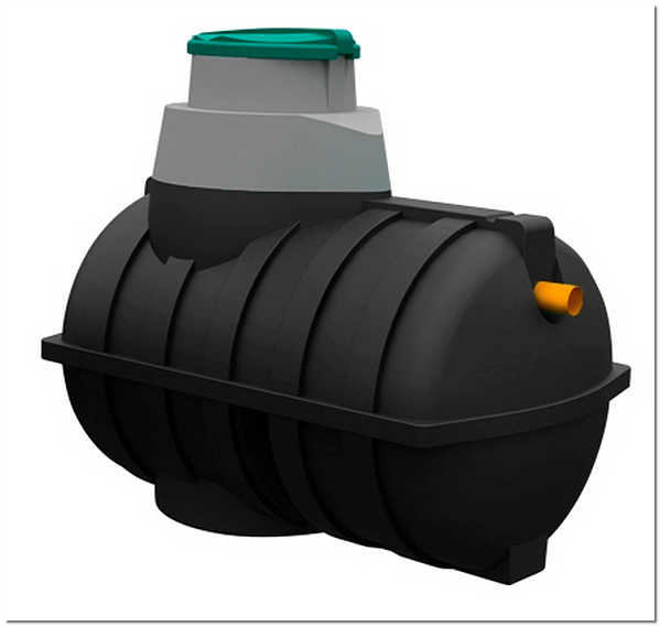 Канализационный полиэтиленовый резервуар для стоков Rostok