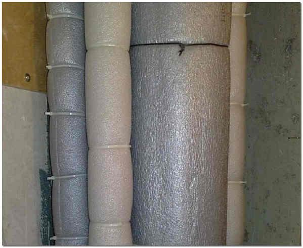 Шумоизоляция стояка и водопроводных труб