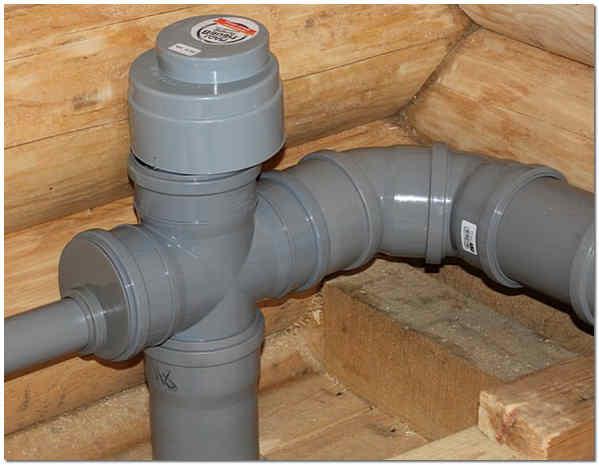 Вакуумный клапан канализации в деревянном доме фото