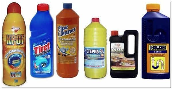 Химические средства для прочистки канализации
