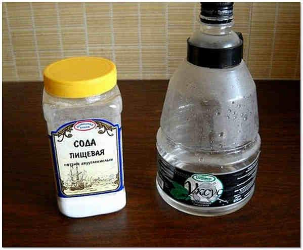 Сода и уксус эффективно помогают бороться с засором