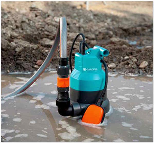 Грязевой дренажный насос с поплавковым выключателем