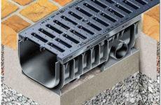 Водоотводные лотки для ливневой канализации: виды, классы мощности, выбор