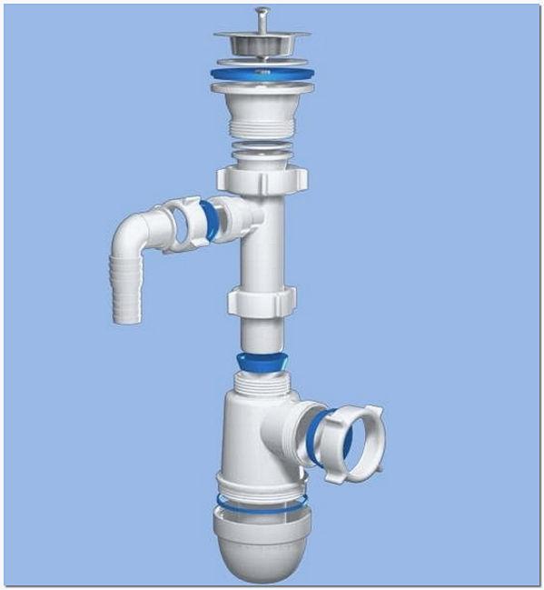 Специальный сифон для раковины с отводом для слива воды