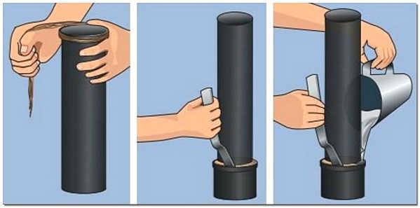 Герметизация канализационных труб серой