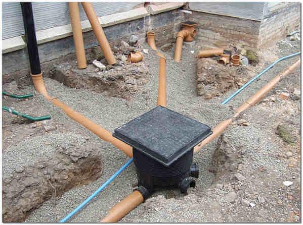 Укладка точечной ливневой канализации