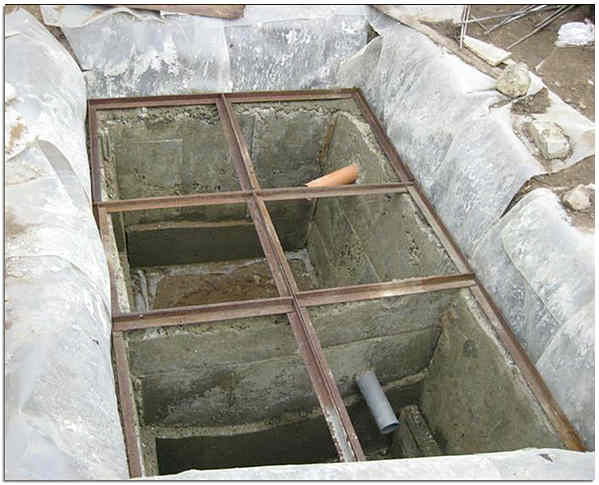 Сливная яма с переливом для частного дома