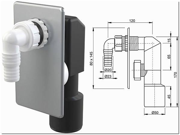 Сифон для подключения посудомоечной машины
