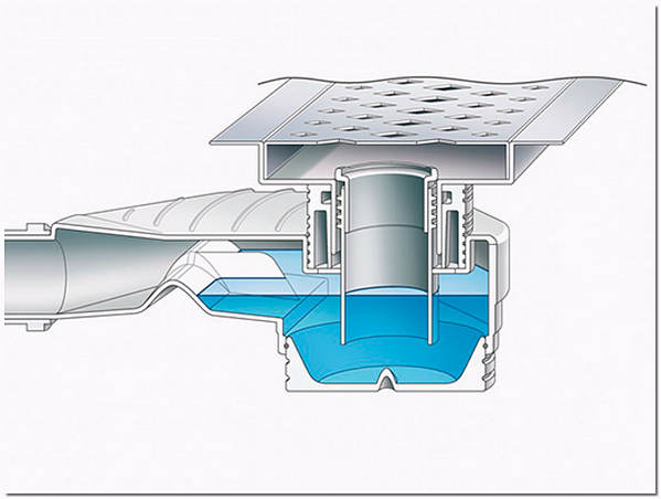Трап канализационный с гидрозатвором схема