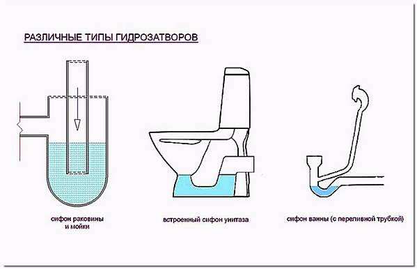 Типы гидрозатворов в сантехнике