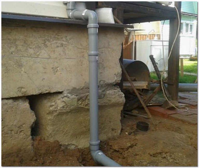 Водоотвод с крыши своими руками из канализационных