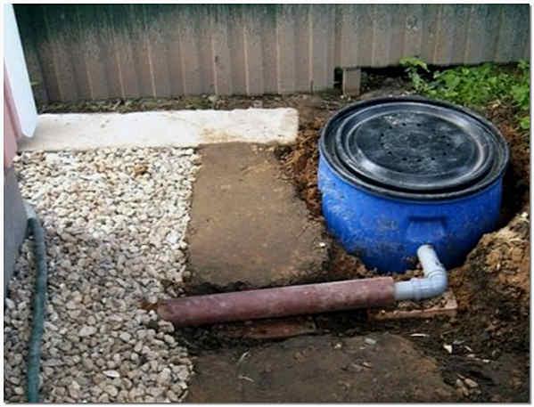 Подключение пластиковой бочки к канализации