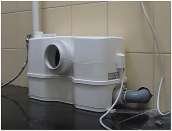 Подключение сололифта к канализации 50 мм