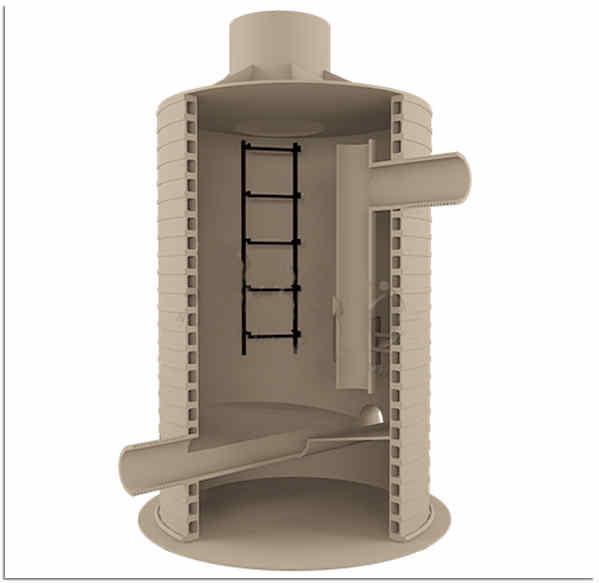 Пластиковая камера гашения напора канализации
