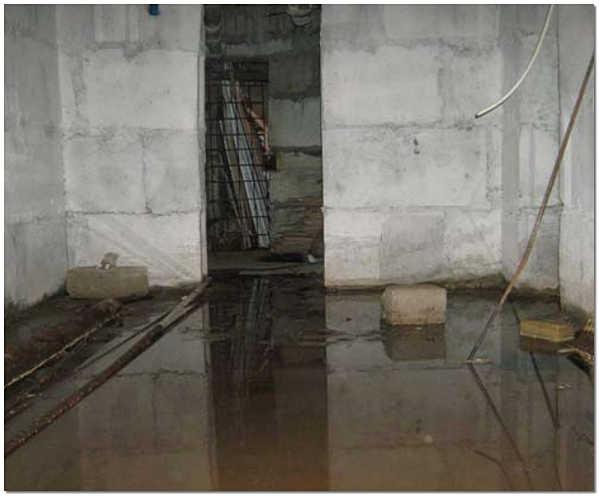 Грунтовые воды в подвале дома
