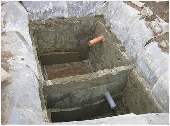 Простейший септик из бетона
